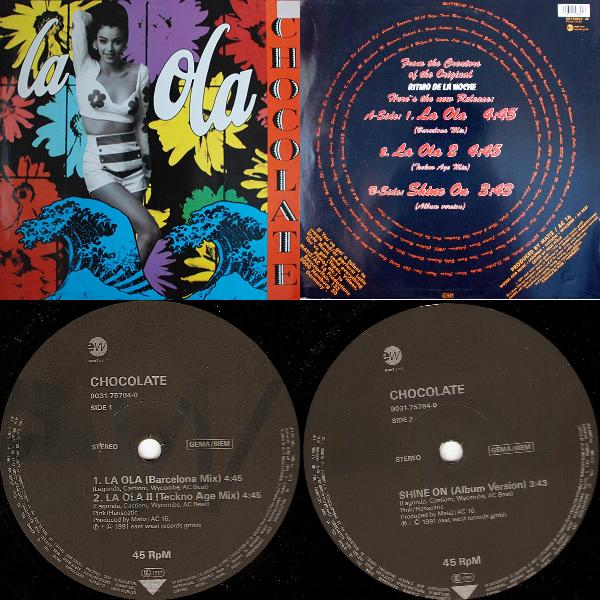 """Chocolate La Ola Single 12"""" 1991 Flac Hhhh-46a630f"""